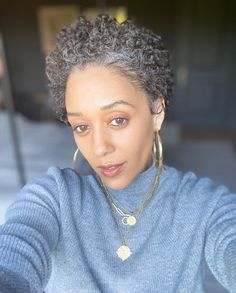 Home / Twitter Black And Grey Hair, Grey Curly Hair, Short Grey Hair, Silver Grey Hair, Short Hair Cuts, Curly Hair Styles, Grey Hair Braids, Curly Afro, Natural Hair Tips