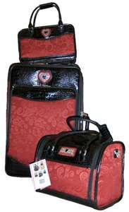Brighton Luggage carry on leather and red Boutique   Brighton ...