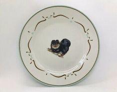 "Danbury Mint Black Pomeranian Dog Dinnerware Porcelain China Salad Plate 7.5""  | eBay"