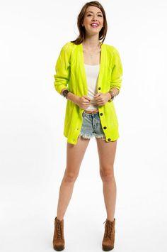Sweet Nicolette Sweater Dress | Yellow sweater, Neon yellow and Neon