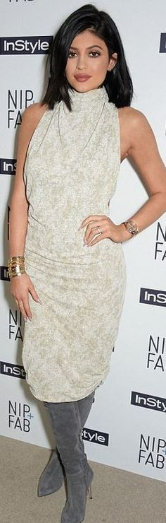 Kylie Jenner: Dress – Zaid Affas Bracelet – Cartier Shoes – Gianvito Rossi