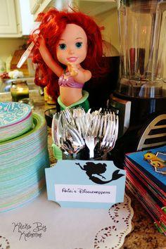 Disney Birthday Party ideas. DIY. Dinglehoppers. Little Mermaid.