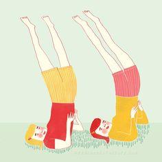 Illustratie voor het boek 'Tussen oevers van fluitenkruid' door Geert De Kockere en Nelleke Verhoeff