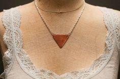 Hand Cut Copper Triangle Necklace by MarsandViv on Etsy, $25.00