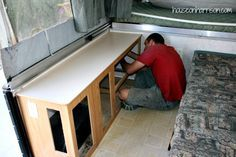Removing the Cabinets  using Rustoleum Countertop Transformations