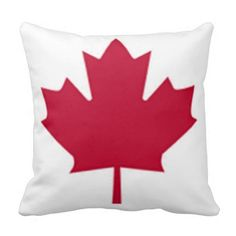 Canadian red Maple Leaf Pillow