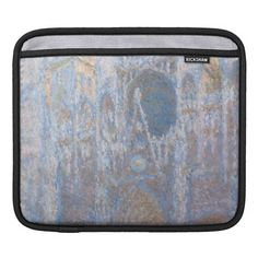 Rouen Cathedral West Facade by Claude Monet iPad Sleeves