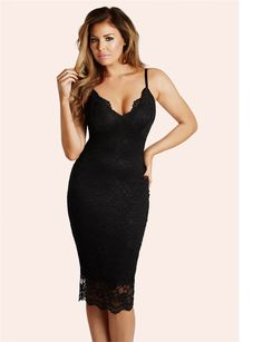 40706a292d18cb Jessica Wright Harriet Black Dress Jessica Wright Dresses, Bodycon Dress  With Sleeves, Lace Midi