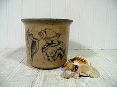 Vintage Pottery SeaShells & Sun Jar Signed by DivineOrders #etsy