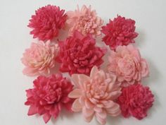 Sola Mini Zinnias  SET of 24  3cm  pinks by SuperiorCraftSupply