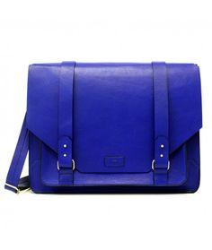 Bolsa Satchel Masculina Azul Adô - R$549 na loja online Adô - www.adoatelier.com