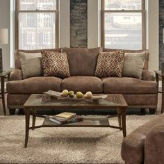 Living Room Rugs Ideas With Dark Brown Sofa With Awesome