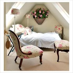 small romantic room under the roof
