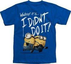 I didn't do it! Minions shirt