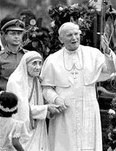 Pope John Paul II and Mother Theresa. A truly beautiful photo that brings to light that there are even saints in our world today. We are all called to be saints. Saint Jean Paul Ii, Pape Jean Paul Ii, St John Paul Ii, Saint John, Paul 2, Catholic Saints, Roman Catholic, Catholic Beliefs, Missionaries Of Charity
