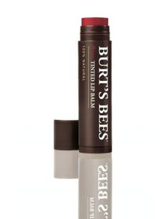 Burt's Bees Tinted Lipbalm.   Feels incredible (cushy, moisturizing, healing) and looks fantastic: the perfect don't-need-a-mirror tint. 40 Drugstore Classics : Lucky Magazine.