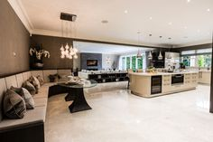 This spacious kitchen, gives new meaning to eat in kitchen