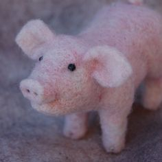Needle Felted Pig by BearCreekDesign on Etsy