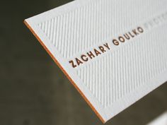 coloured edge on biz cards and blind emboss