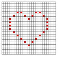 Ravelry: Thin Heart Bobble Chart pattern by Kari Philpott Crochet Bedspread Pattern, Crochet Square Patterns, Crochet Motifs, Crochet Diagram, Crochet Stitches Patterns, Tapestry Crochet, Crochet Squares, Crochet Chart, Free Crochet