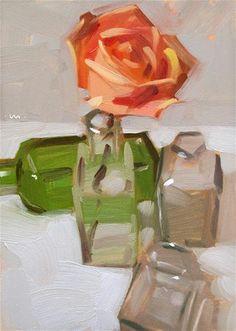 """""""Trying On Bottles - SOLD"""" - Original Fine Art for Sale - © Carol Marine"""