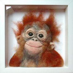 Needle felted Orangutan - SShaw
