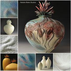 Natalie Blake Studios 2016 Collection of porcelain vessels and tiles . . .