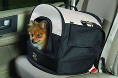 $59.99 Good Pet Stuff Travelin' Dog Carrier, up to 25 pounds - The Good Pet Stuff Company's Travelin' Dog Carrier is a soft-sided carrier that easily attaches to an automobile seat belt for the safe and comfortable transporting of your pet.  This carrier can also be used as a top to the Travelin' Dog Pet Seat, converting it into a carrier as well. http://www.amazon.com/dp/B001HX492O/?tag=pin2pet-20