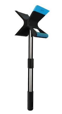 Double-blade design so you can scrape with both forward and backward motions Front handle lets you scrape with less strain and more force Extendable, telescoping arm for better reach