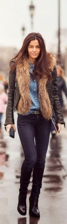 Chic Street Look - I'd change the colour of the jeans