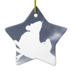 Rat Double-Sided Star Ceramic Christmas Ornament