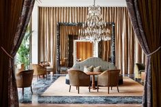 """First established in 1896, Hotel de L'Europe Amsterdam is one of the standard-bearers in the city's luxury hotel scene. Recently, it was reborn through a contemporary lens, while still paying homage to the Dutch Masters. """"We don't like to throw away the useful items and start from scratch,"""" says Dax Roll of local design firm Nicemakers, which handled the renovation. """"We wanted to bring back the hotel's original allure and its classic luxury but without getting an old-fashioned or dusty feeling."""" Luxury Furniture Brands, Bespoke Furniture, Large Furniture, Furniture Design, Apartment Showcase, Amsterdam, Hotel Door, Ace Hotel, Stone Flooring"""