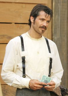 Timothy Olyphant - Deadwood and Justified -- we're friends you know... Timothy and I...  went to Grammar School (Standiford Elementary), Junior High (Somerset) and High School together (Beyer HS) in Modesto, CA!!!