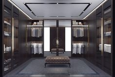 Fantastic luxury closets for your Master Bedroom. Walk In Closet Design, Bedroom Closet Design, Master Bedroom Closet, Closet Designs, Interior Design Living Room, Walking Closet, Dressing Room Design, Dressing Rooms, Lofts