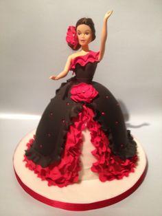 Flamenco Dancer Novelty Cake cakepins.com