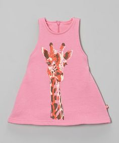 Take a look at this Hot Pink Giraffe Dress - Infant & Toddler by Zutano on #zulily today!