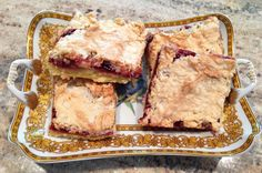 Vienna Bars! Delicious served with ice cream.  Flaky pastry with nuts and fruity jam.  Rivals the best of Viennese bakeries.  Recipe at bonconseil.us
