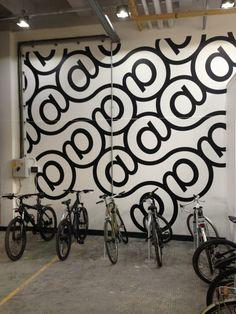 Bike racks. Temple Studios Creative Warehouse Offices
