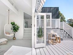 Deck with bifold doors
