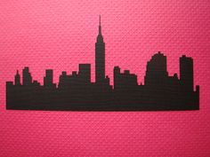 New York Skyline Silhouette , gona use this in ma final piece Barnes Barnes Bonnar New York Skyline Silhouette, Ny Skyline, New York Tattoo, Skyline Painting, Decoupage, Art Folder, World Crafts, I Love Ny, New York Art