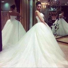 Wide Wedding Dress