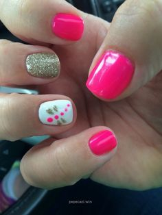 Revived Skin & Nails, Summer Nails, Marissa, Dragonfly, Hot Pink, Glitter, w…