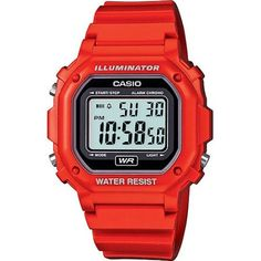 Casio F108WHC-4A Wrist Watch, Kids Unisex, Red