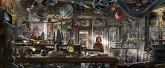 """Digital painting conceptual artwork from """"Tomorrowland"""""""
