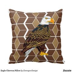 Eagle Chevron Pillow