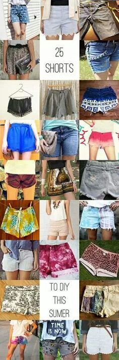 DIY Shorts for Summer Get ready for summer with 25 ways to DIY shorts! A collection of the best DIY shorts tutorial from around the web.Get ready for summer with 25 ways to DIY shorts! A collection of the best DIY shorts tutorial from around the web. Diy Summer Clothes, Summer Outfits, Cute Outfits, Diy Shorts, Basic Shorts, Short Shorts, Diy Clothing, Sewing Clothes, Look Fashion