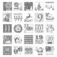 Stampin' Up! Stamp Set to use with an Advent Calendar or Countdown to Christmas project!