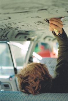 """""""Whacha doing, Moony? Just writing."""" """"On the ceiling of a mini van?"""" """"Uh-huh"""" """"Well hand it to me when you're done will you, I've got stuff to say too."""" // Summer road trip 1976 // taken by Peter Story Inspiration, Writing Inspiration, Character Inspiration, Into The Wild, Julien Neel, Beautiful Boys, Scooby Doo, All The Bright Places, Never Be Alone"""