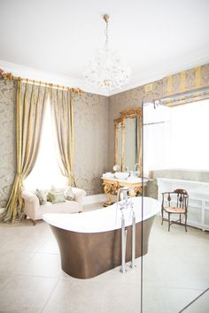 One of the stunning bathrooms in the House in Tankardstown en suite rooms. Beautiful space to get ready on the morning of your destination wedding in Ireland! Ireland Homes, House Ireland, Hotel Bedroom Decor, Top Destination Weddings, Bathroom Goals, Beautiful Space, Architecture Details, Bathrooms, House Rooms