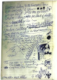 Joe Strummer london calling original lyrics